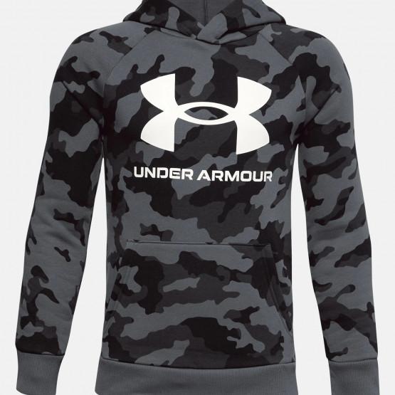 Under Armour Boys' Rival Fleece Printed Hoodie