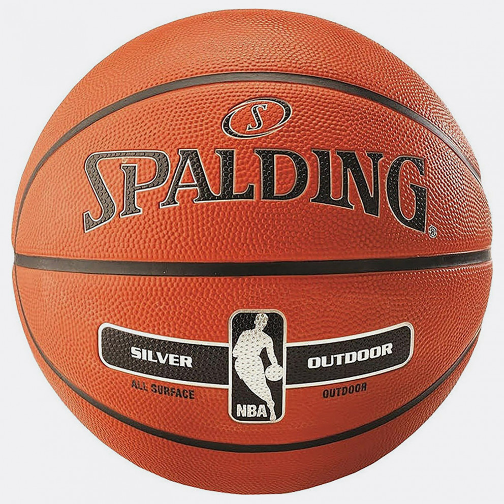 Spalding Nba Silver Series Outdoor Size 7 Rubber B