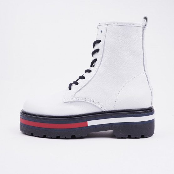 Tommy Jeans Flag Outsole Lace-Up Women's Boots