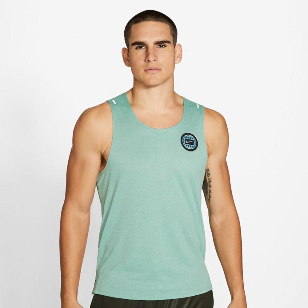 Nike Miler Wild Run Men's Graphic Running Tank Top