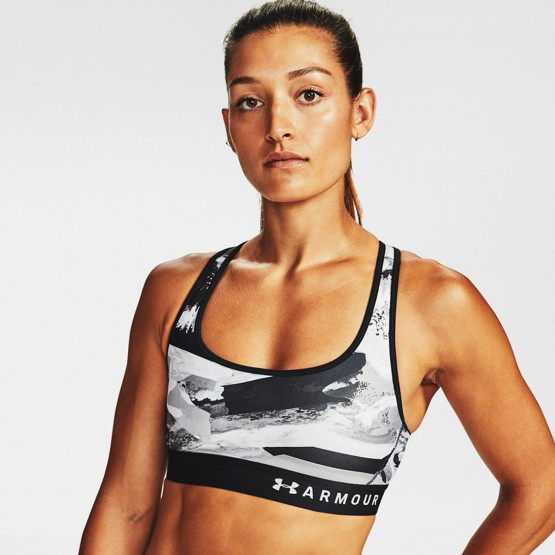 Under Armour Mid Crossback Printed Bra