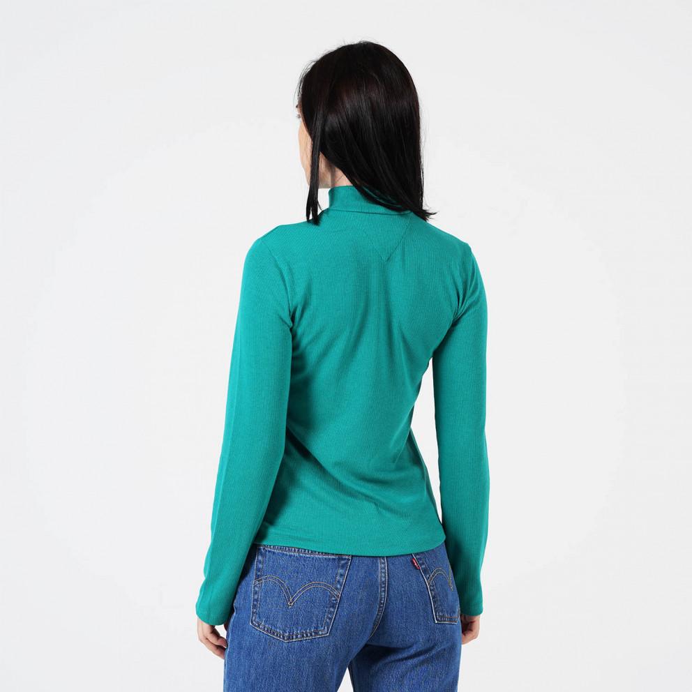 Tommy Jeans Rib Γυναικεία Ζιβάγκο Μακρυμάνικη Μπλούζα
