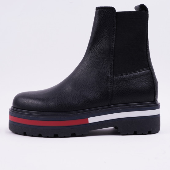 Tommy Jeans Platform Sole Flag Chelsea Γυναικείες Μπότες