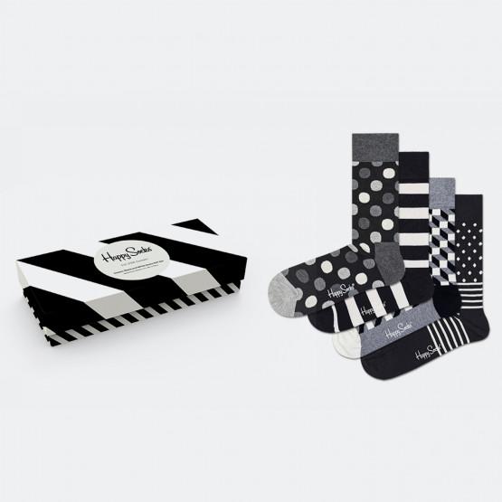 Happy Socks 4-Pack Classic Black & White Socks Gif