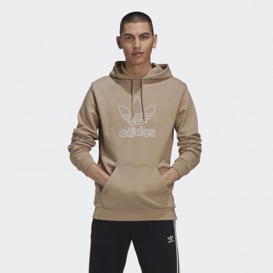 adidas Outline Trefoil Logo Ανδρική Μπλούζα με Κουκούλα