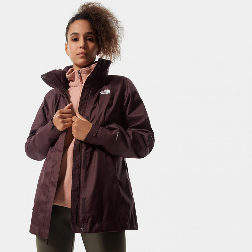 THE NORTH FACE W Evolve Ii Tri Jkt Rootbrn/Pnkcl