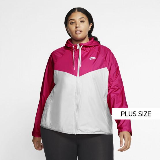 Nike Sportswear Windrunner Jacket Plus Size Γυναικείο Αντιανεμικό Μπουφάν
