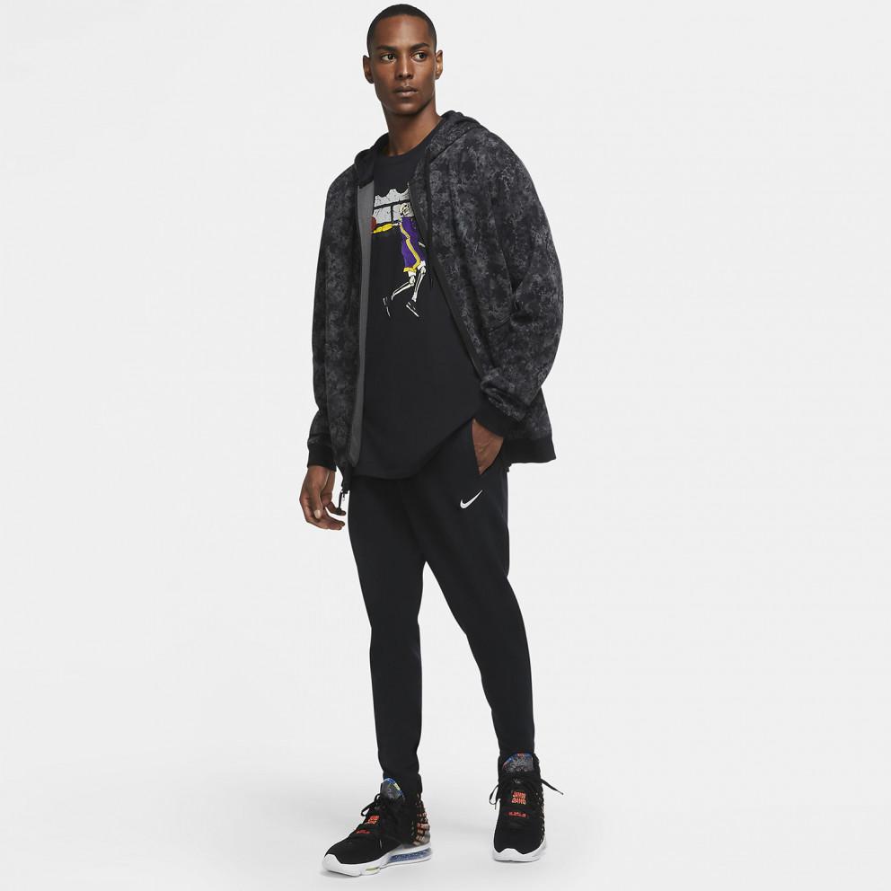 Nike LeBron Ανδρική Εμπριμέ Μπλούζα με Κουκούλα και Φερμουάρ σε Όλο το Μήκος
