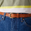 Wrangler Twisted Pattern Belt Cognac Γυναικεία Ζώνη