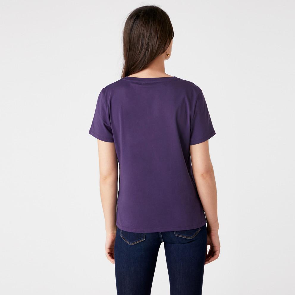 Wrangler Logo Tee Purple Velvet
