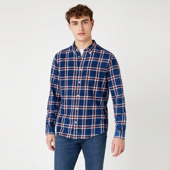 Wrangler Ls 1Pkt Button Down Mars Red