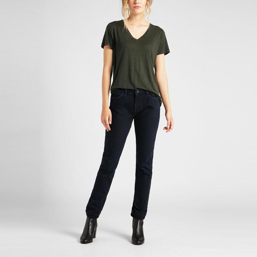 Lee V Neck Tee Γυναικεία Κοντομάνικη Μπλούζα