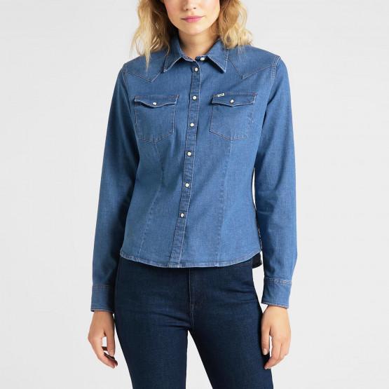 Lee Slim Western Shirt Blueprint