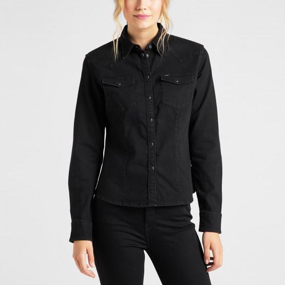Lee Slim Western Shirt Black