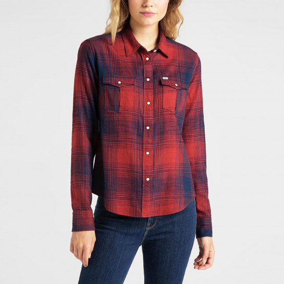 Lee Regular Western Shir Red Ochre