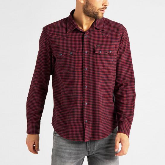 Lee Rider Shirt Red Ochre