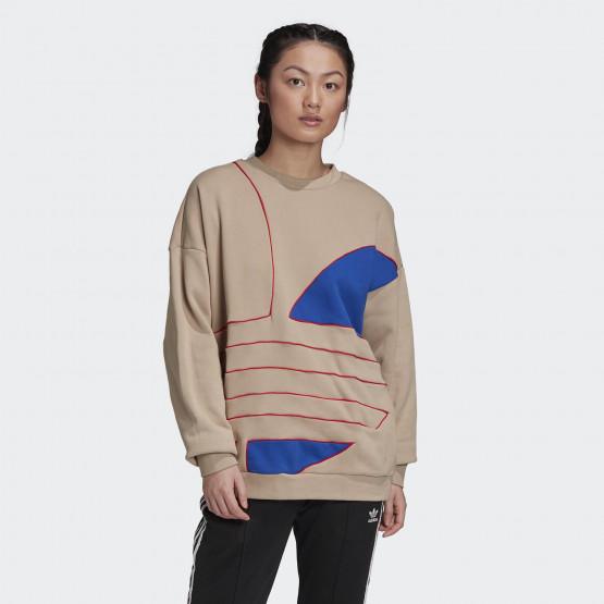 adidas Originals Big Trefoil Sweatshirt Γυναικεία Μακρυμάνικη Μπλούζα