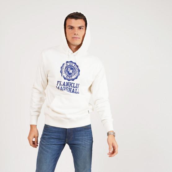 Franklin & Marshall Brushed Fleece Cotton Ανδρική Μπλούζα με Κουκούλα