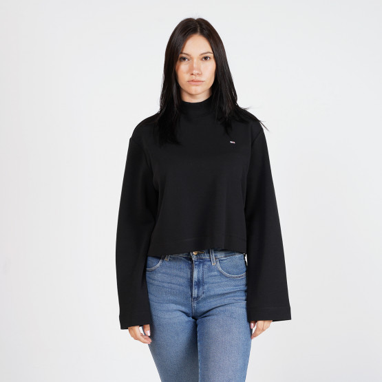 Tommy Jeans Cropped Long Sleeve Hybrid Γυναικεία Μπλούζα