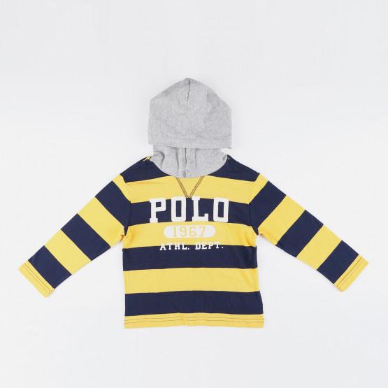 Polo Ralph Lauren Cotton Jersey Graphic Βρεφική Μπλούζα με Μακρύ Μανίκι