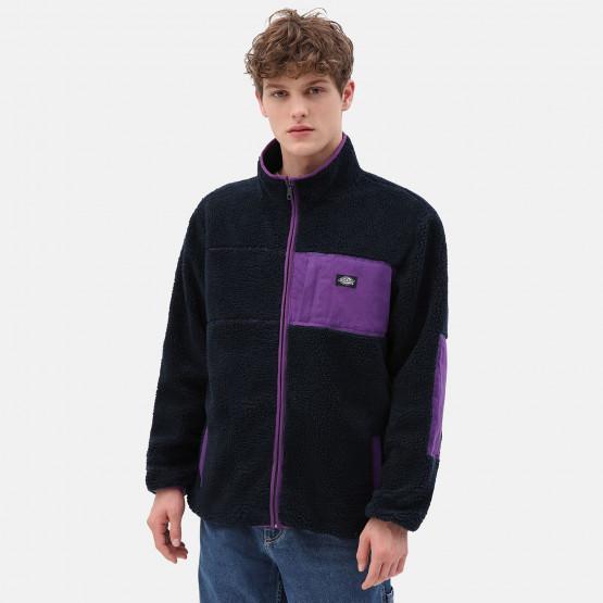 Dickies Red Chute Sherpa Zip Through Jacket