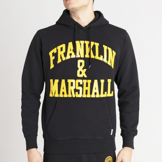 Franklin & Marshall Ανδρική Μπλούζα με Κουκούλα