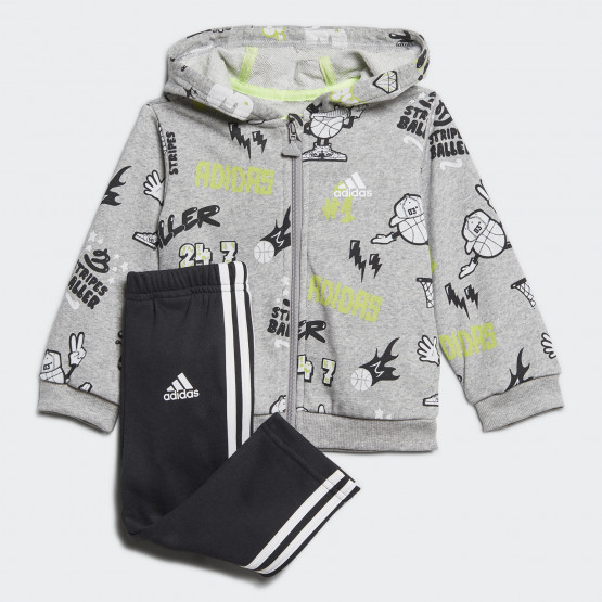 adidas Graphic Track Suit Βρεφικό Σετ Ζακέτα Φόρμα