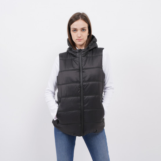 BodyTalk Padded Women's Sleeveless Hooded Coat