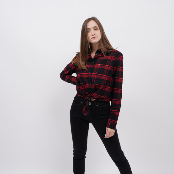 Tommy Jeans Check Front Knot Shirt