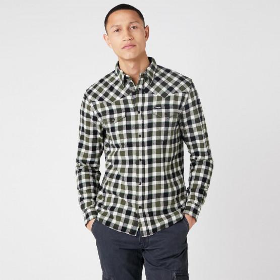 Wrangler Ls Western Shirt Absinthe Green