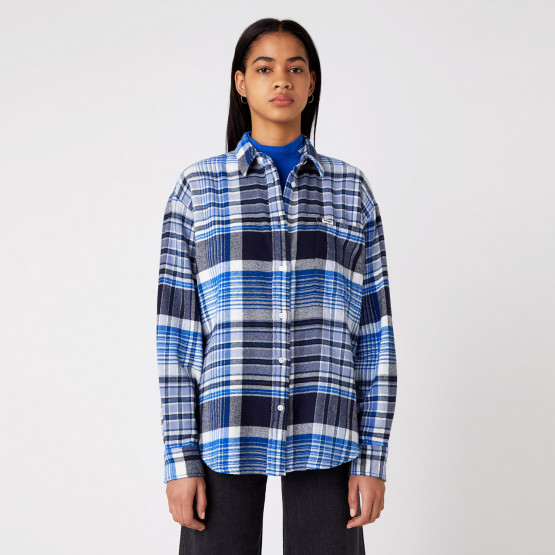 Wrangler Flannel Overshirt Parisian Night