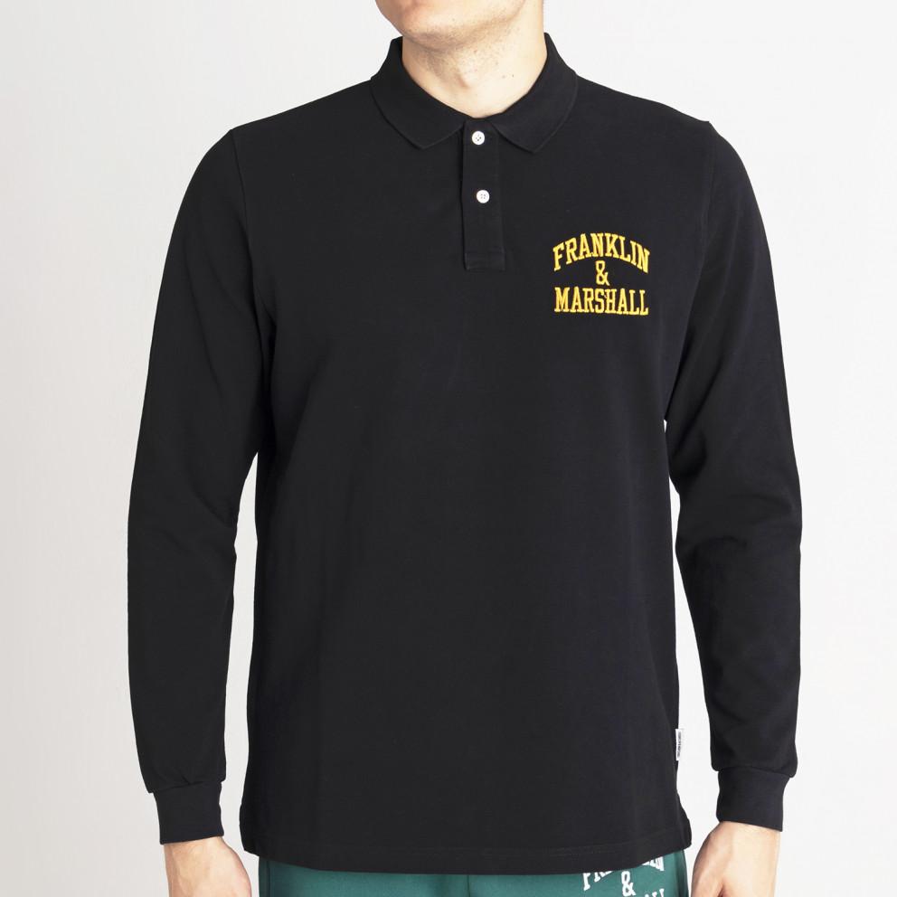 Franklin & Marshall Polo-Cotton Piquet Men's Long-sleeve Blouse