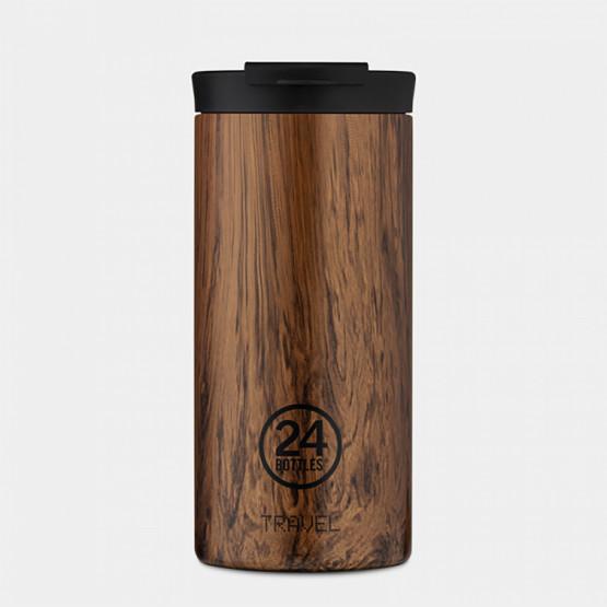 24Bottles Travel Tumbler Sequoia Wood Ανοξείδωτο Ποτήρι Θερμός 600 ml