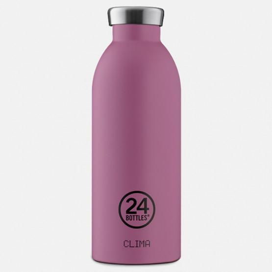 24Bottles Clima Mauve Steel Bottle 500 ml