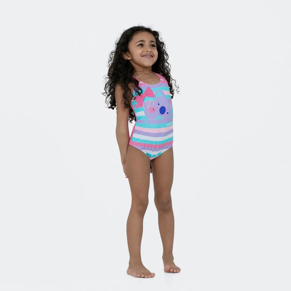 Speedo Koko Koala Digital Placement Crossback Kid's Overall Swimsuit