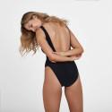 Speedo Stripe Logo Deep U-Back Women's Overall Swimsuit