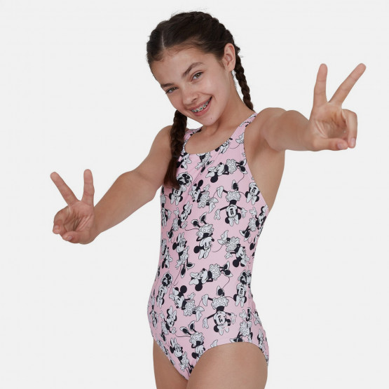 Speedo Minnie Mouse Allover Medalist Kid's Overall Swimsuit