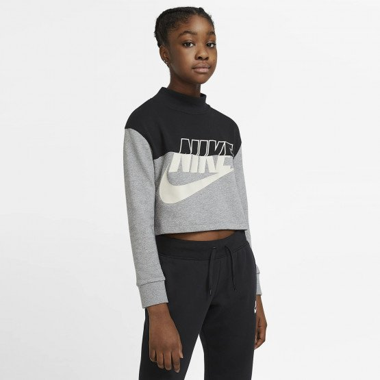 Nike Sportswear Cropped French Terry Kid's Tee