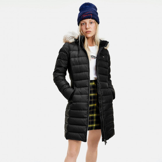 Tommy Jeans Essential Hooded Down Γυναικείο Μπουφάν