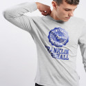 Franklin & Marshall Logo Ανδρική Μακρυμάνικη Μπλούζα