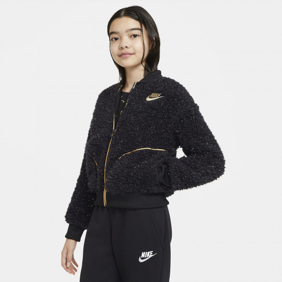 Nike Sportswear Full-Zip Sherpa Kids' Jacket