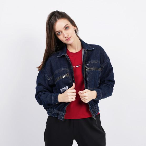 Tommy Jeans Zip Cropped Women's Denim Jacket