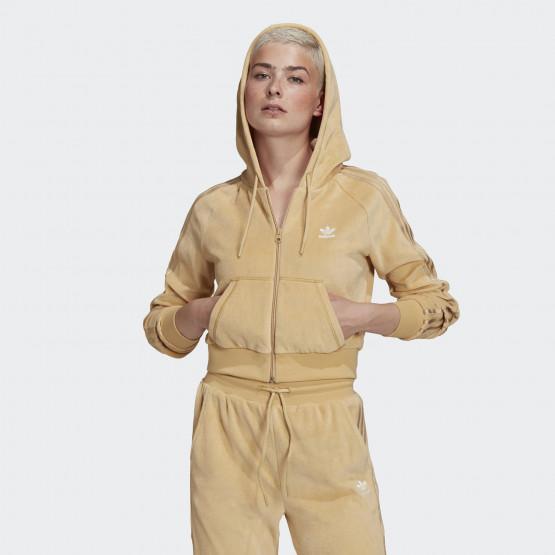 adidas Originals Crop Velour Γυναικεία Ζακέτα
