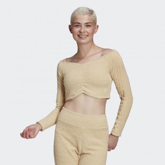 adidas Originals Crop Τοp Γυναικεία Mακρυμάνικη Μπλούζα
