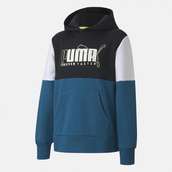 Puma Alpha Color Block Παιδική Μπλούζα με Κουκούλα