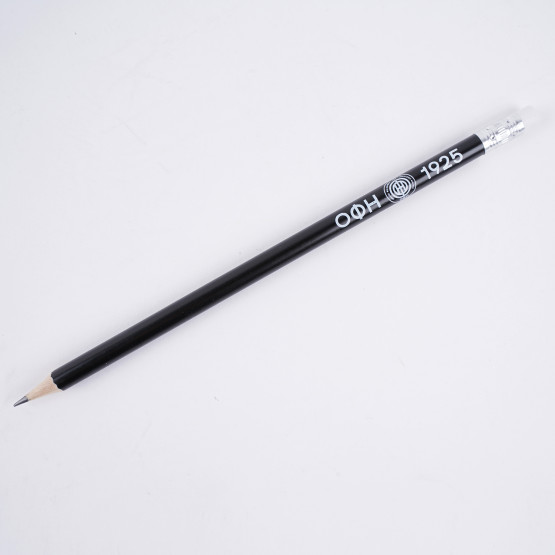 OFI OFFICIAL BRAND Wooden Pencil with Eraser Black