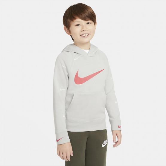Nike Sportswear Swoosh Παιδικό Φούτερ με Κουκούλα