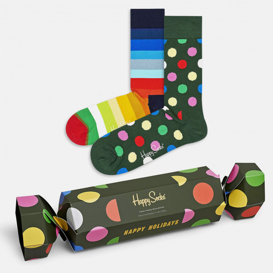 Happy Socks 2-Pack Classic Holiday Socks Gift Set