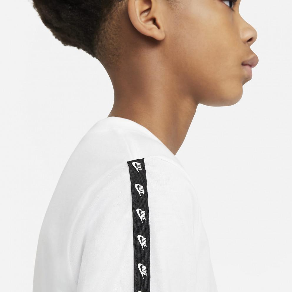 Nike Sportswear Lifestyle Taping Kids' Long Sleeved T-shirt