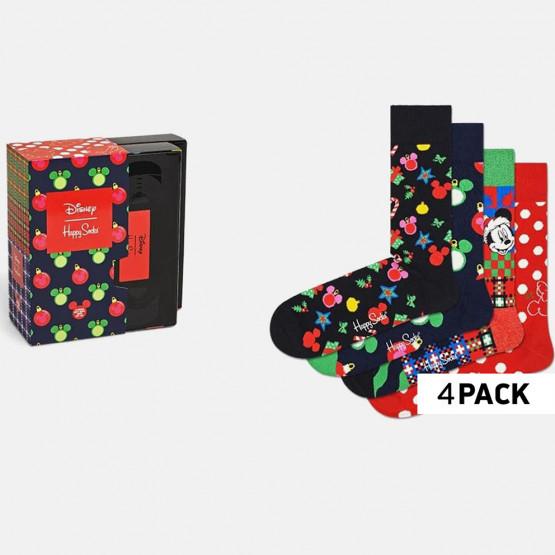 Happy Socks 4-Pack Disney Holiday Gift Set Γυναικείες Κάλτσες
